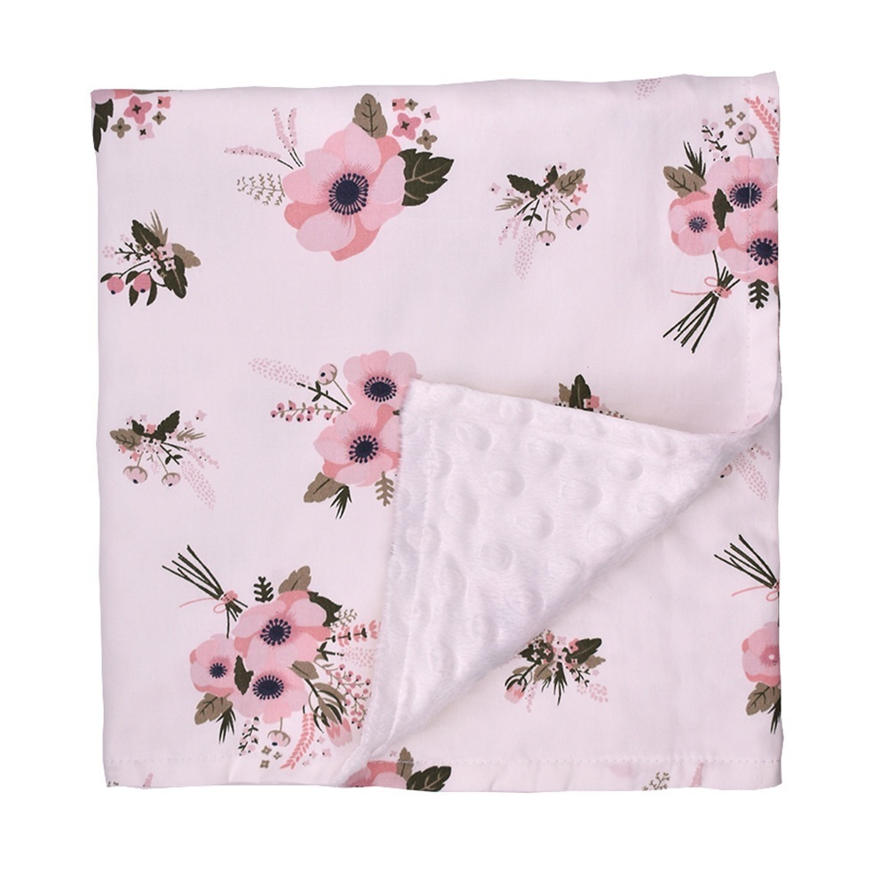 Baby Bedding Blankets Mantas Fashion Minky Blanket With Dot Boys Girls Baby Wrap Babydecke Cobertor Newborn Baby Blankets