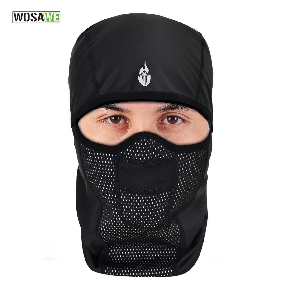 WOSAWE Winter Cycling Face Mask Fleece Thermal Windproof Bike Balaclava Cycling Skiing Fishing Skating Hat Headwear long keeper 10pc lot balaclava winter men women skullies face neck mask cap thermal winter cyling bike riding running hat