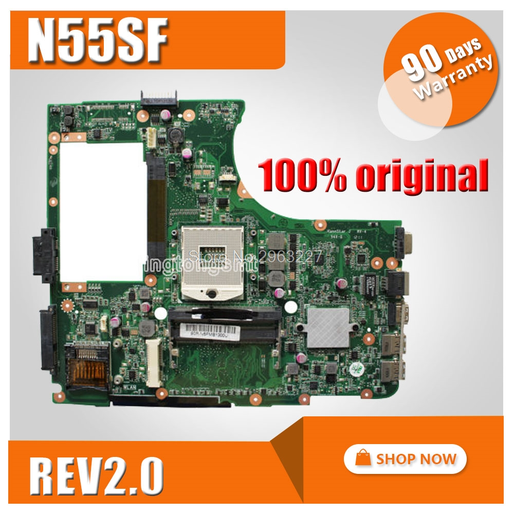 цена N55SF Motherboard REV2.0 For ASUS N55S N55SL Laptop motherboard N55SF Mainboard N55SF Motherboard test 100% OK