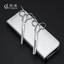 Professional Hair Scissors set 6 inch Straight & Thinning scissors barber shears+kits