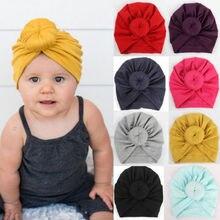 Шапочка с бантом для новорожденных детей и девочек, милая шапочка, больничная шапочка, удобный вязанный головной убор, повязка на голову
