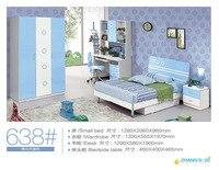 2016 роскошные детские кровати обувь времени ограниченной дерево горит Enfants Meuble камас дети двухъярусная кровать Skyblue Спальня мебель комплект