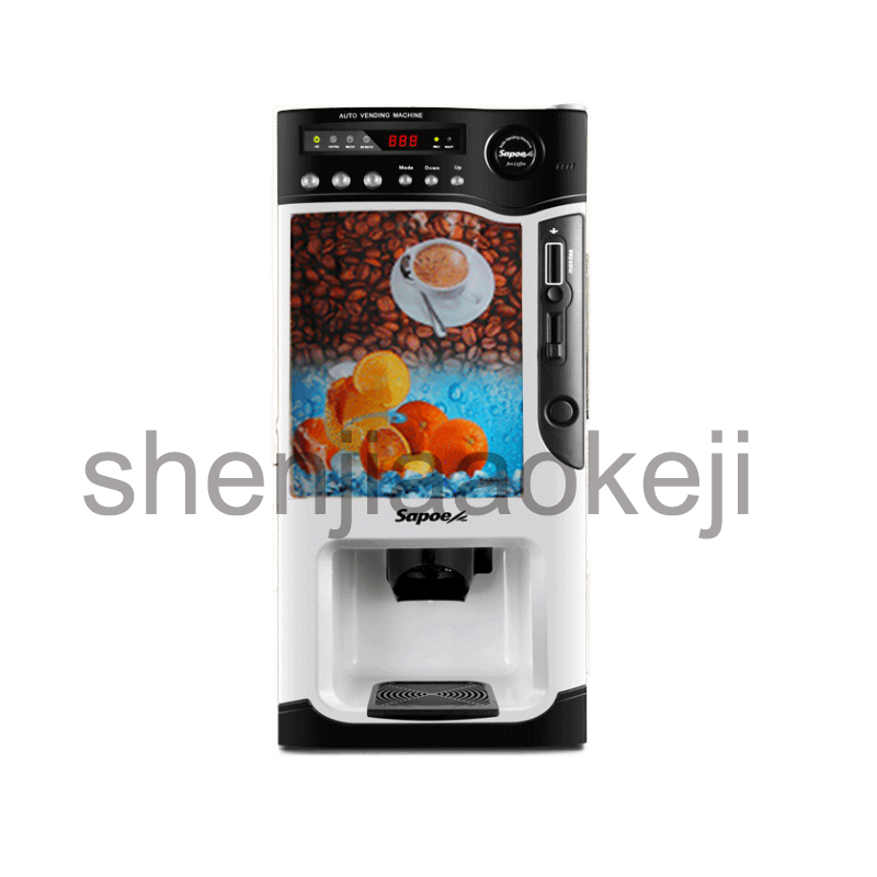 Smart coin-operated commercial instant coffee machine hot and cold coffee machine milk tea juice beverage machine jiqi hot cold beverage machine drinking machine household small automatic instant coffee machine milk tea coffee machine 220v