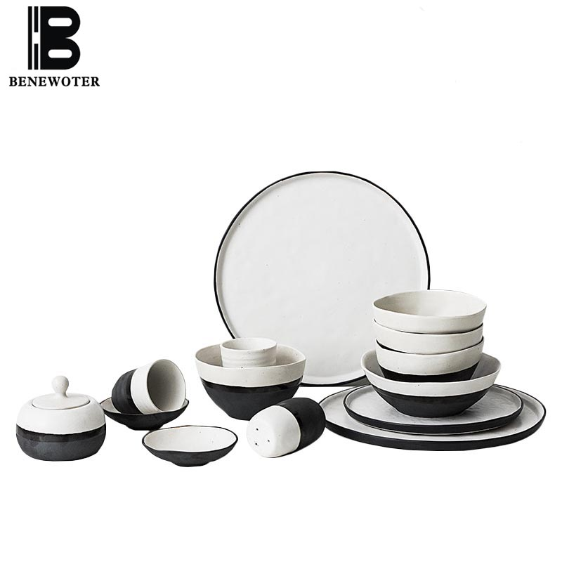 7/16PCS/Lot Japanese style Ceramic Dinnerware Set Large Soup Noodle Bowls Rice Bowl Spaghetti Plate Home Vintage Tableware Gifts-in Dinnerware Sets from ...  sc 1 st  AliExpress.com & 7/16PCS/Lot Japanese style Ceramic Dinnerware Set Large Soup Noodle ...