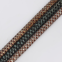 1Y Imitation Snake Skin Leather Cord 10 6mm Jewelry Material True Leather Cord DIY Jewelry Accessories