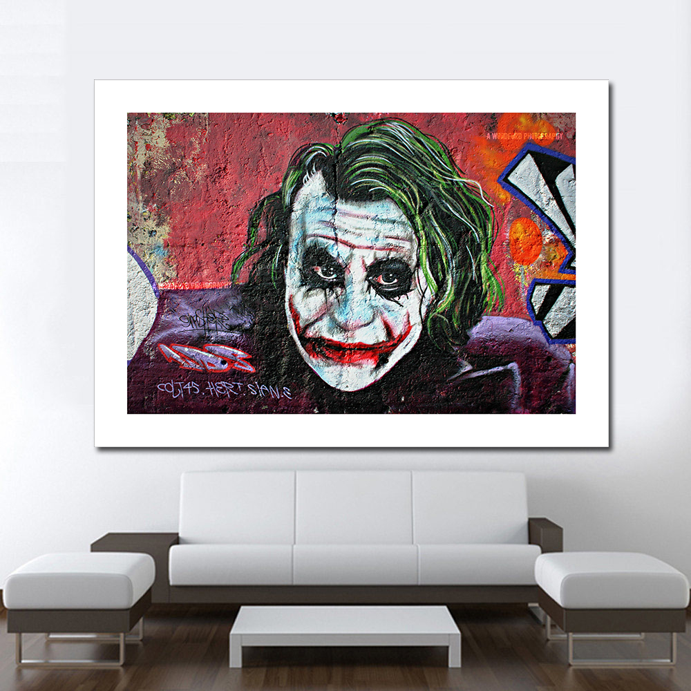 online get cheap clown art aliexpresscom  alibaba group - wang art pictures for modern living room no frame canvas oil paintingdecorative pictures a sharp