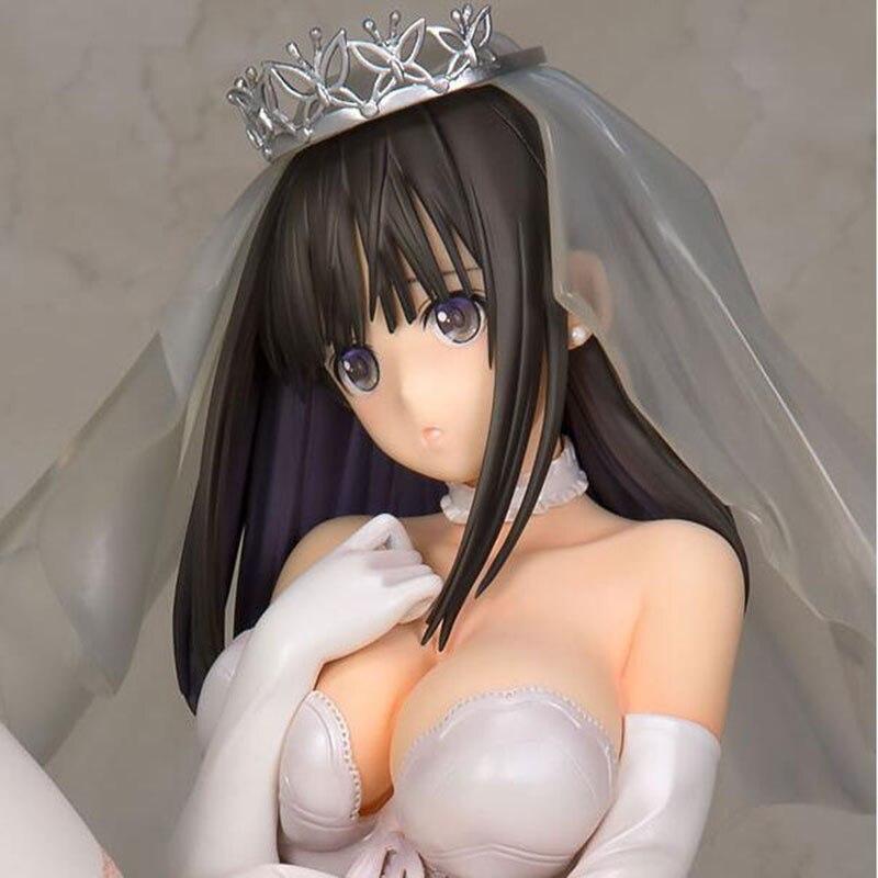 12cm Sexy Adults Anime Fault! figure Saeki Yukina Wedding Tony Ver. PVC action figure collection model toy anime one piece p o p sexy nami action figure pole dance bb swimsuit ver pvc collection model 23cm