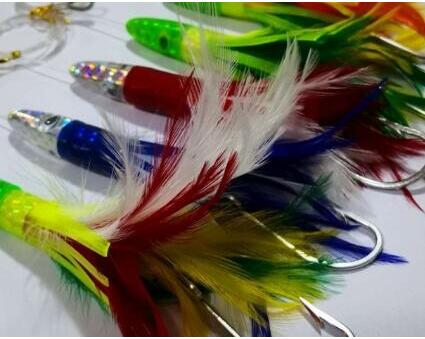 Octopus Skirts Trolling Lures Saltwater Tuna Skirt with Stainess Steel Hook Swivel Rigged Big Game Lure 17CM/50g
