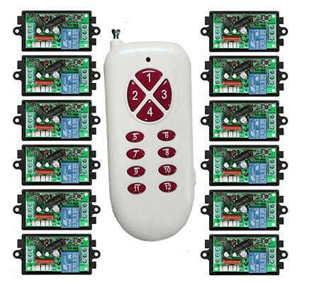 500 м дальность AC220V 1CH RF Беспроводной дистанционного Управление реле безопасности Системы гаражные ворота электрические двери лампа/окна