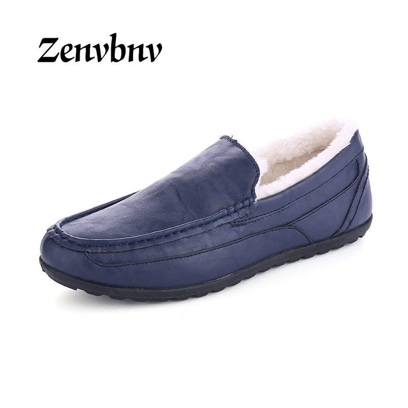 ZENVBNV New Casual Shoes Winter Fur Men Loafers 2017 Slip On Fashion Drivers Loafer Pig Suede Leather Moccasins Plush Men Shoes 2017 fashion winter flat fur shoes women rabbit fur tide lazy shoes slip on casual plus velvet loafer shoes autumn new arrival
