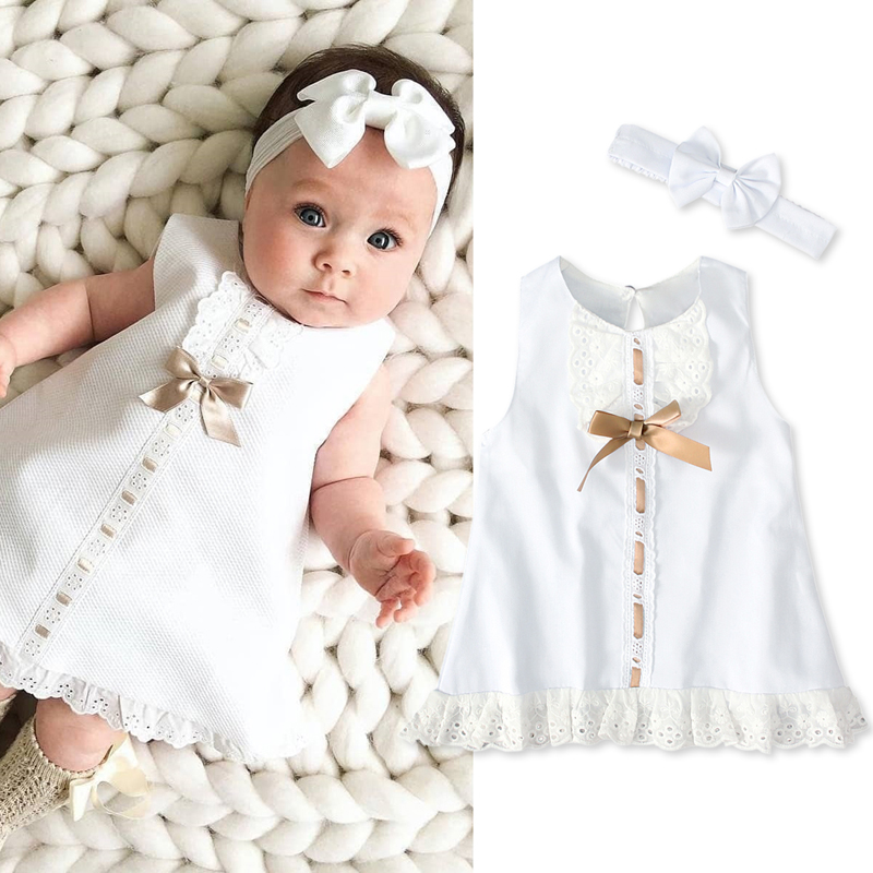 Rorychen Costume Dress Headbands Easter Birthday-Party Girls White Princess Cotton New