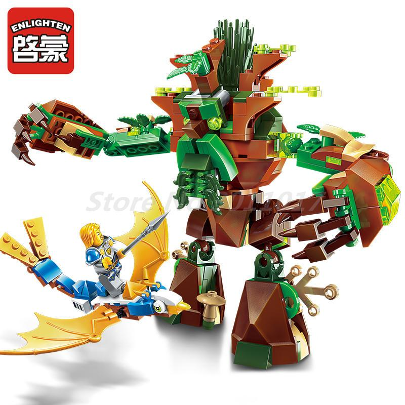 Enlighten 2309 286pcs War Of Glory Castle Knights War Of Ancient Tree 1 Figures Building Blocks Brick Toys for Children Gifts single sale medieval castle knights dragon knights the hobbits lord of the rings figures with armor building blocks brick toys