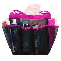 Bathroom Shower Mesh 8 Pocket DIY Portable Quick Dry Outdoor Travel Tote Bag