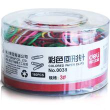 Deli 0037 stationery lackadaisical deli 0038 multicolour clip 29mm 3# colored paper clips