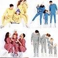 2016 Família Combinando Roupas Pijama Listrado Mãe Filha Filho Pai Roupas Criança Roupas Set Família Pai-Filho YJ8