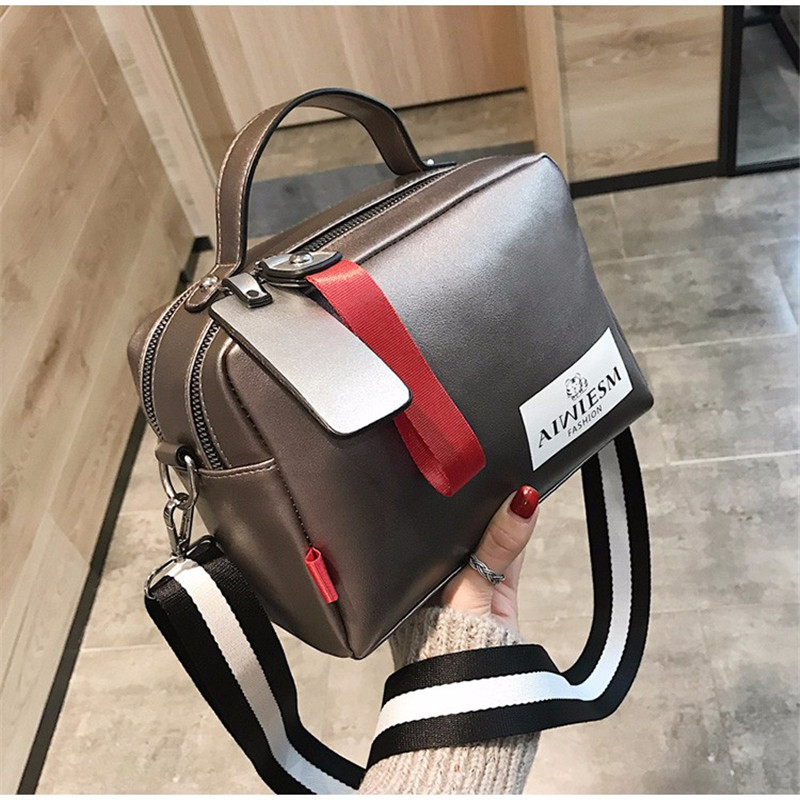 Image 3 - Large capacity luxury handbags women bags designer Double zipper solid color bags women hot sale bag female 2019 black women's-in Shoulder Bags from Luggage & Bags