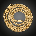 Twisted Rope Chain  Yellow Gold Filled Womens Mens Necklace Knot Chain