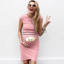 388cd57ae8f Women Print Pregnant Maternity Prop Bodycon woman dress pregnancy party  dress Casual Dresses baby shower dresses