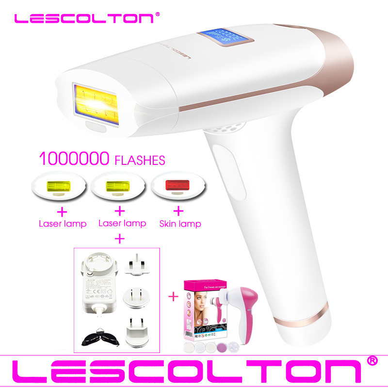Original Lescolton 4in1 1000000 pulsed IPL Laser Hair Removal Permanent Hair Removal IPL laser Epilator Armpit