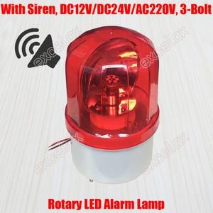 Luz de Flash giratoria LED, luz estroboscópica de rotación, sirena, Beeper, sonido de advertencia, lámpara de alarma de señal de emergencia para poste Vehículo de guardia