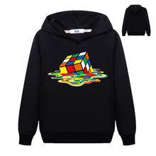 2019 New black Hoodie Sweatshirt Boy Girls Hoodies Cube 3D P