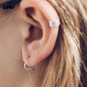 1pc coração/estrela em forma de falso tragus piercings aro helix cartilagem tragus daith orelha studs lábio nariz anéis piercing brincos uvw002