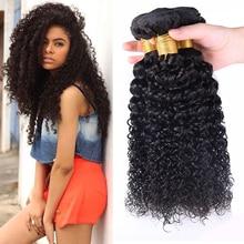 Brazilian Kinky Curly Virgin Hair With Closure Queen Weave Beauty Brazilian Curly Virgin Hair 3 Bundles Curly Weave Human Hair