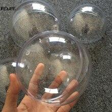 20 шт 10 см романтическое дизайнерское Рождественское украшение в виде шара Прозрачное пластиковое рождественское прозрачное украшение подарок