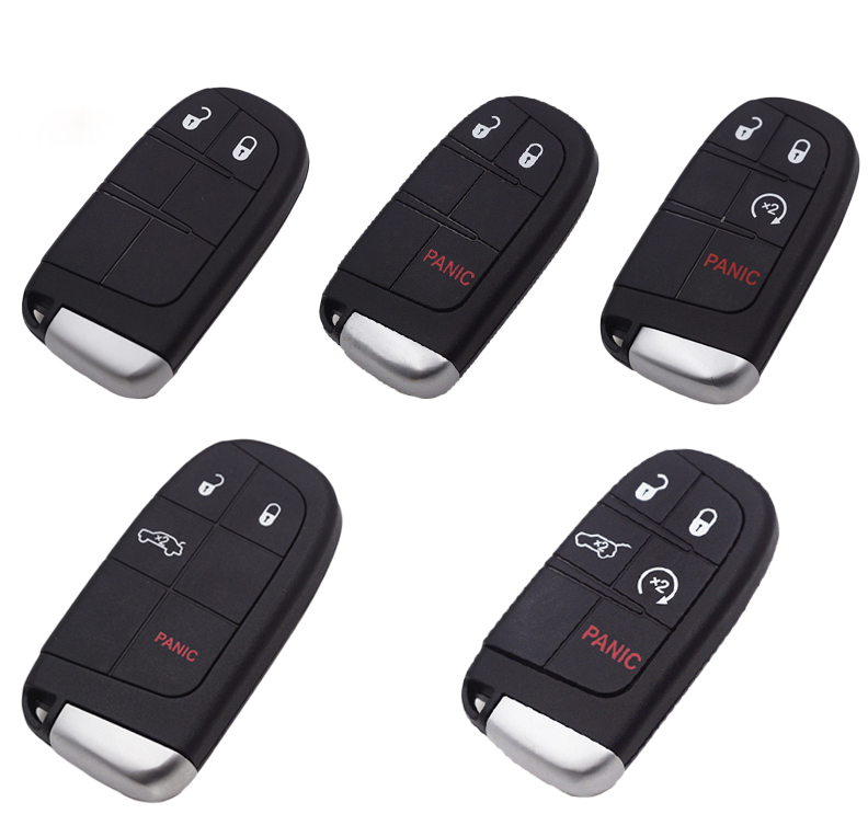 Smart Remote Key Shell Case For Chrysler 300C Jeep Cherokee Dodge Journey  JCUV Keyless Entry Fob Car Key Cover-in Car Key from Automobiles &