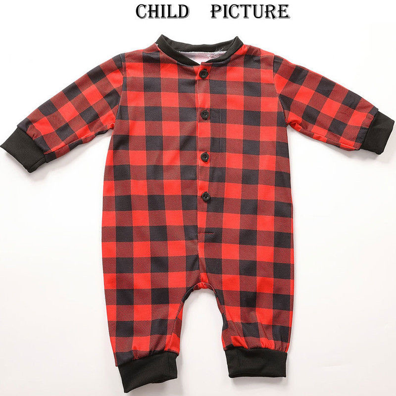 ae2f1777fb New Dad Mom Kids Baby Sleepwear Parent child Red Plaid Pyjamas Christmas  Nightwear Family Matching Christmas Pajamas-in Matching Family Outfits from  Mother ...