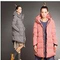 Nuevas mujeres de la Moda de Invierno Chaqueta Caliente Abajo Chaqueta Gruesa Capa de Lunares Medio-largo Pato Abajo Parkas abrigos y chaquetas A1091
