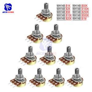 5PCS/Lot Potentiometer Resistor 1K 2K 5K 10K 20K 50K 100K 250K 500K 1M Ω/Ohm 3Pin Linear Taper Rotary Potentiometer for Arduino