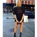 2017 Punk Rock Camiseta Mujeres USTED IDIOTA FUCK'N Impresión impresa Camiseta de La Camiseta Top de Las Mujeres Mujer Camiseta femme Envío gratis