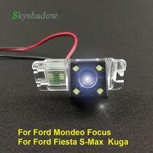 Для Ford Mondeo Фокус хэтчбэк Fiesta S-Max S Max мы собрали воедино 2010 2011 автомобильное Kuga CCD Ночное видение резервного копирования парковки задним ходом камеры заднего вида/Камера