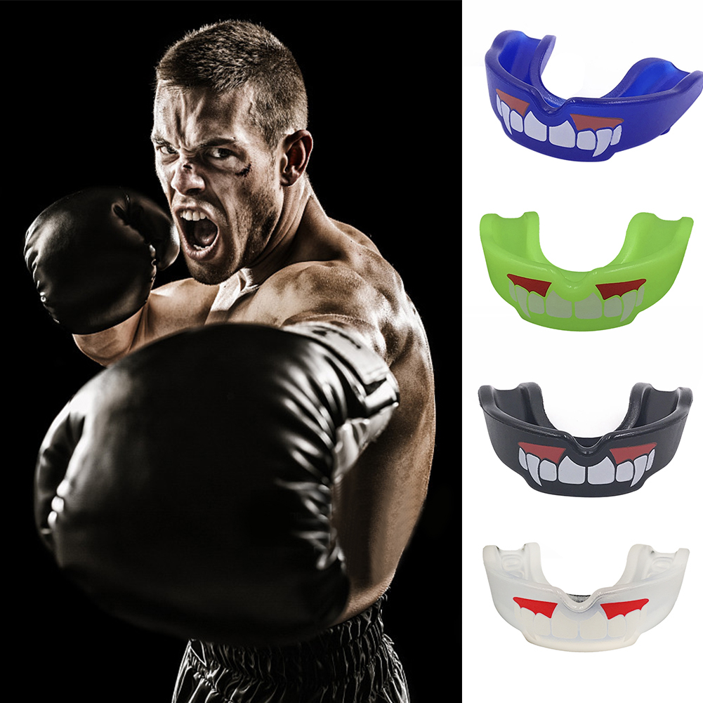 2018 New Blue Sports-Mouth-Guard-Adult-Teeth-Protector-Boxing-MMA