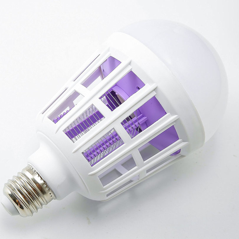 Efficient LED Bug Zapper Light Bulb Cleaning Mosquito Killer EU US 9W 15W Insect Trap Lamp Home Backyard E27 led Bulb Outdoor - 4