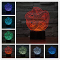 3d Lamp Abstract colorful visual 3 d stereo touch light LED colorful small night light lamp  Usb Led Table Lamp