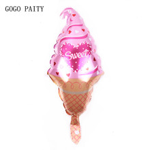 GOGO PAITY  New cartoon birthday cake ice cream aluminum balloon ball adult children baby birthday party decorating layout