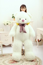 huge 150cm white bear plush toy , bowtie teddy bear doll hugging pillow ,birthday gift, Xmas gift d2317