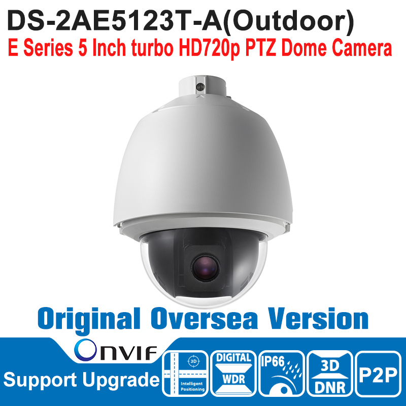 DS-2AE5123T-A HIK PTZ Camera 720P Outdoor 5 Inch turbo HD720p PTZ Dome Camera Speed Dome Camera IP66 ONVIF CMOS 3D DNR hikvision ds 2de7230iw ae english version 2mp 1080p ip camera ptz camera 4 3mm 129mm 30x zoom support ezviz ip66 outdoor poe