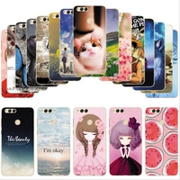For Huawei Honor 7x Cases Cute Cartoon Soft TPU Silicone Protector Phone Cover For Huawei Honor 7x BND-AL10 Print Cases fu306