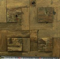 3D Rustic Wood Mosaic Tile Kitchen Backsplash Tile Ancient Wood Mosaic Wall And Floor Tiles Courtyard