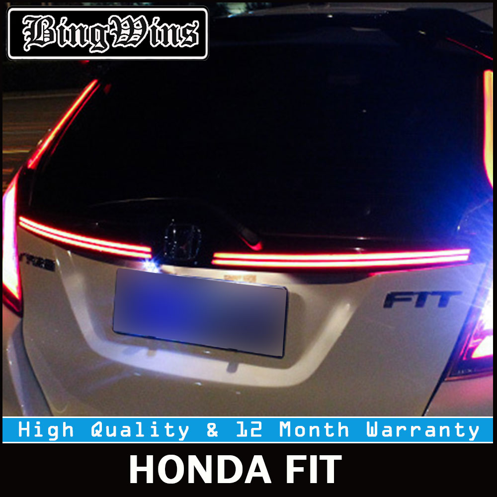Car taillights for Honda Jazz Fit 2014-2016 TAIL Lights LED Tail Light Rear Lamp DRL+Brake Signal Whole set High Quality Back xuankun off road motorcycle modified led taillights turn lights brake lights license plate tail lighthouse