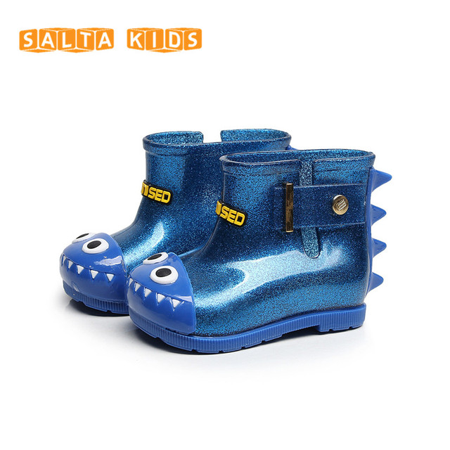 Динозавр мальчик Сапоги и ботинки для девочек детские непромокаемые Сапоги и ботинки для девочек детей Акула дождь Обувь Водонепроницаемый ребенок резиновые Сапоги и ботинки для девочек желе мягкий детской обуви jb11