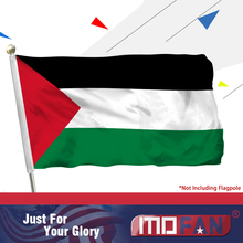 MOFAN Palestine National Flag-High Quality Durable and Double Stitched-Holiday procession Flags Polyester 3x5 Ft
