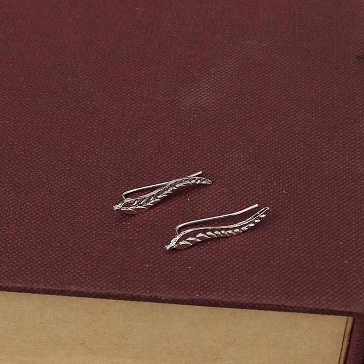 Của phụ nữ Đồ Trang Sức Thời Trang Bạc của Cô Gái Bông Tai Vàng Sáp Quét Bọc Lady của Climber Leafs Ear Stud Bông Tai Bijoux chi nhánh