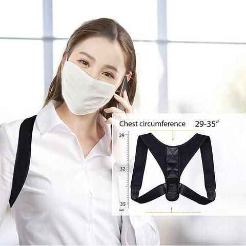 Adjustable Medical Men/women Back Posture Corrector Clavicle Spine Back Shoulder Lumbar Brace Support Belt Posture Correction 32 Lahore