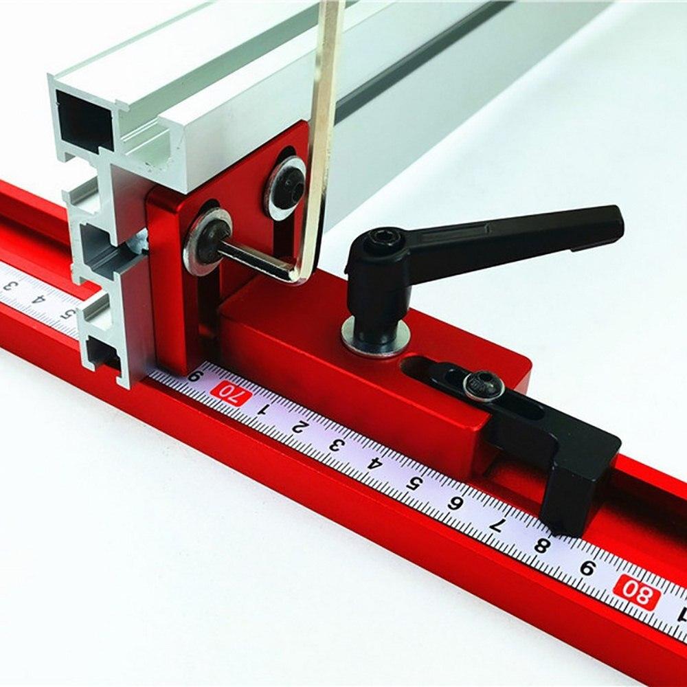 75mm Height Miter Track T-track Stop Sliding Brackets T-Slot Aluminium Profile Wood Working Workbench DIY Accessories