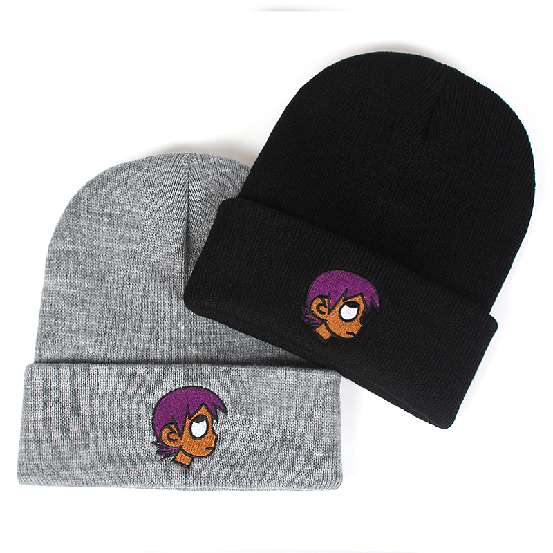 new Embroidery LIL UZI VERT winter Hat Fashion The Rapper warm Cap Hip Hop Women Men Black   Beanies     Skullies   Bone Garros