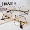 Женщины Старинные Очки Кадр Равнине Зеркало Большой Круглый Металлический Оптический рамка Для Девушки Очки Прозрачные Линзы óculos feminino де грау 2833